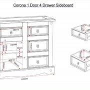 corona_1_door_4_drawer_sideboard