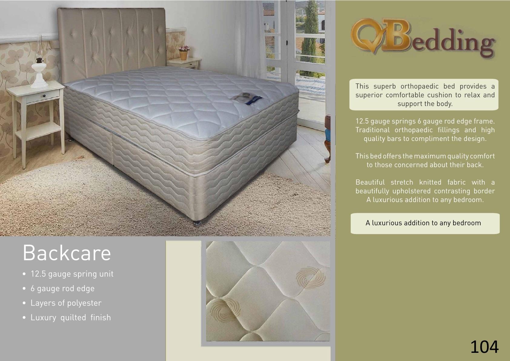 Quality backcare divan set mattressshop for Good quality divan beds