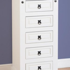 CORONA_5_DRAWER_NARROW_CHEST_WHITE_01