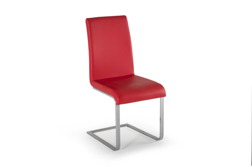 Hue Dining Chair Red - Angle -