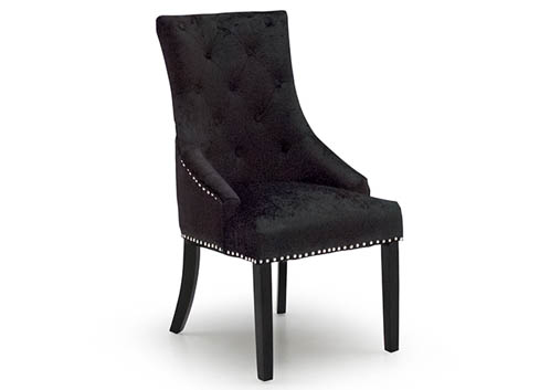 Back Chair Black