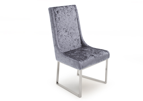 Dimensions:552W x 478D x 1040H mm 21.5W x 19D x 41H inch Finish:Damson Fabric with Chrome Legs
