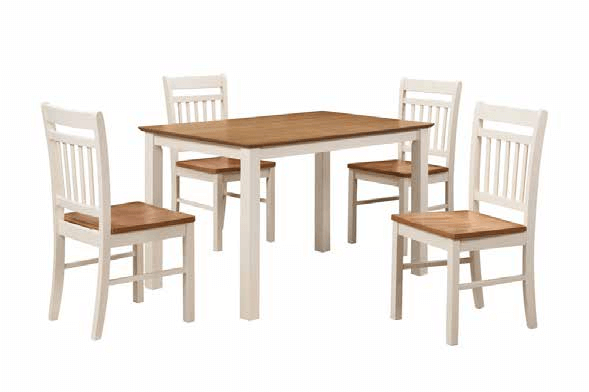 Chester Dining Set Oak and Cream