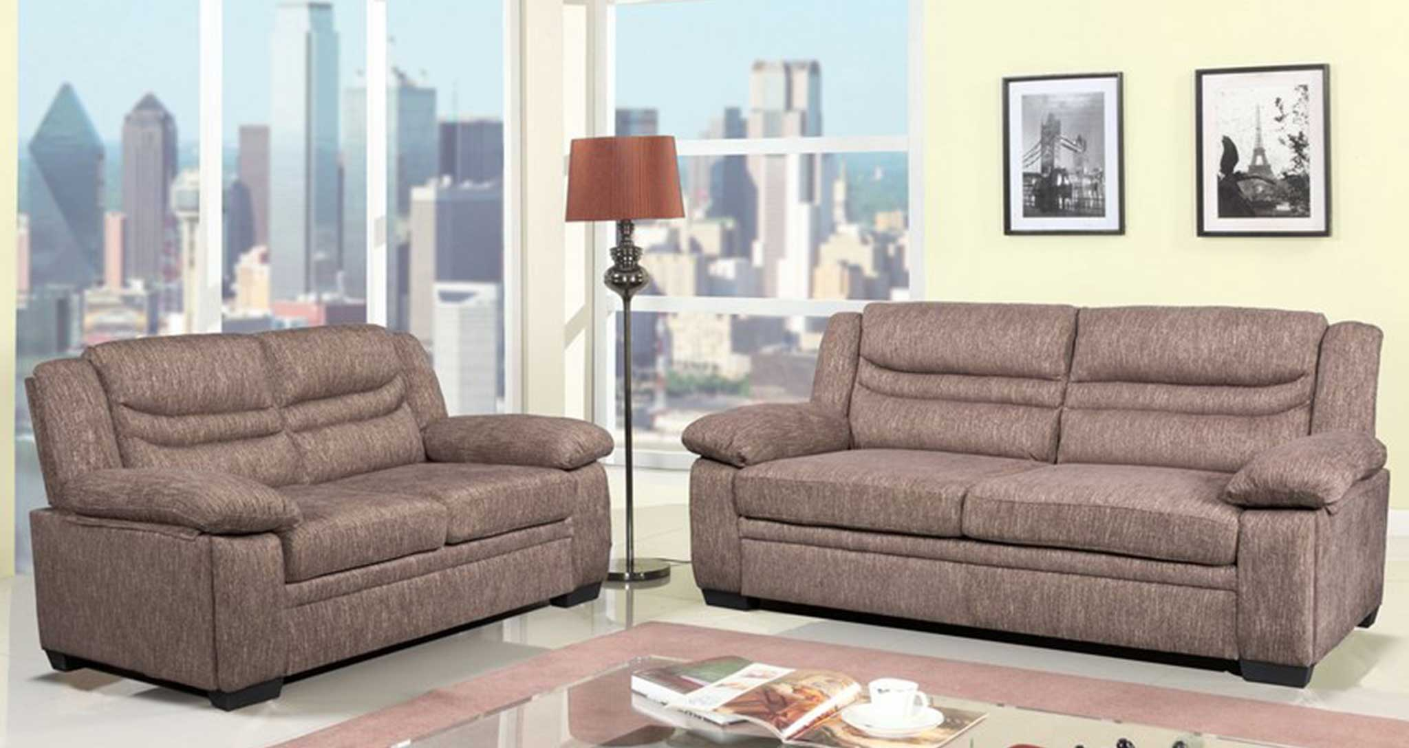 Denver Sofa Light Brown