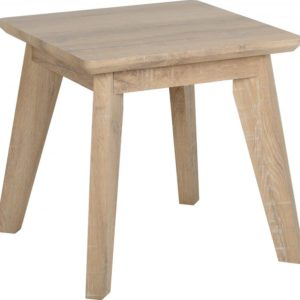 Finley Lamp Table in Medium Oak Effect Veneer