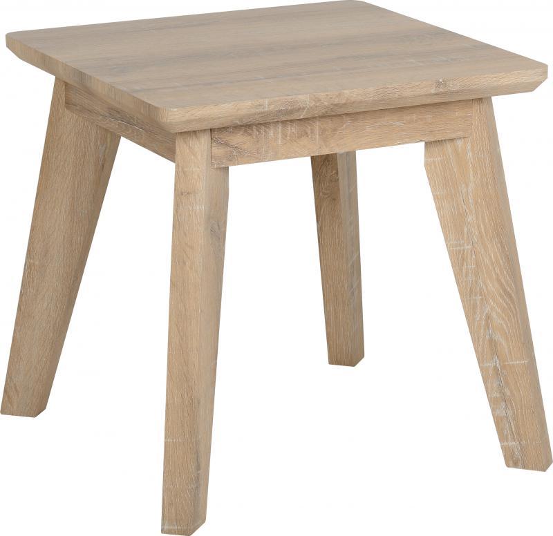 Finley Lamp Table in Medium Oak Effect Veneer