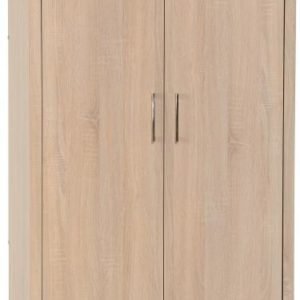 Lisbon 2 Door Wardrobe in Light Oak Effect Veneer