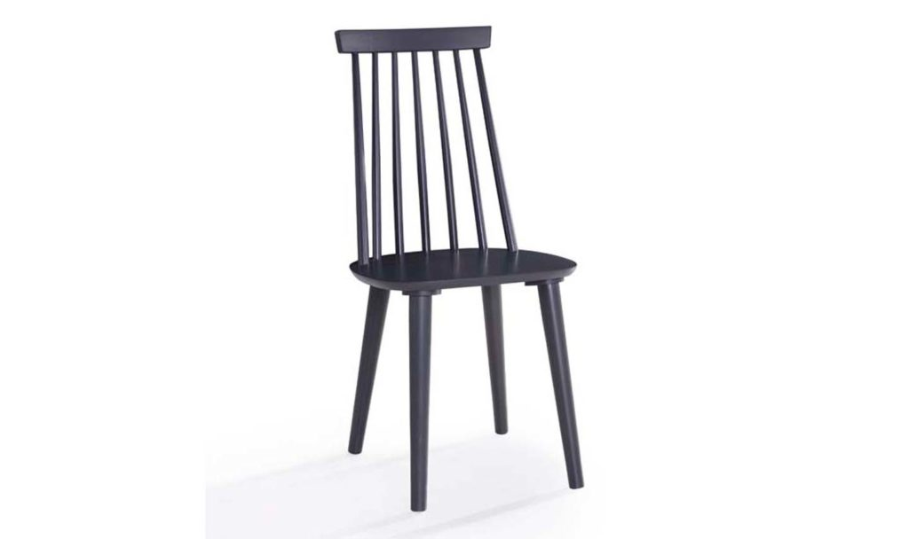 Isla spindle dining chair - BLACK