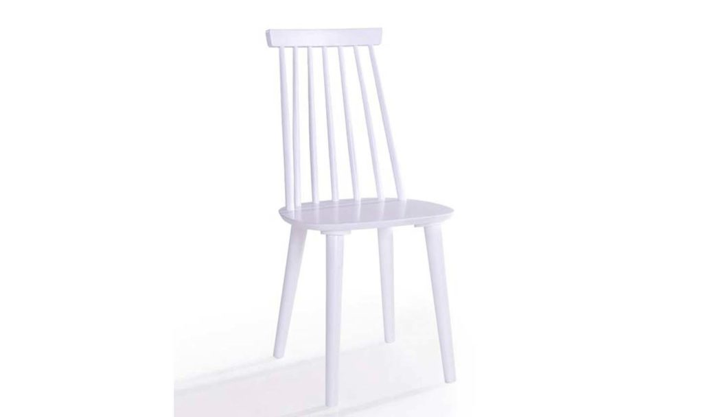 Isla spindle dining chair - WHITE