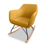 Katell Rocking Chair - Mustard Angle