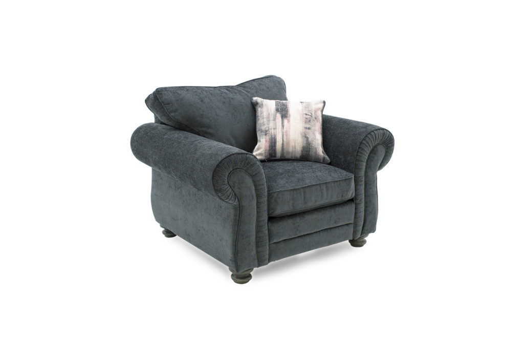 Hollins 1 Seater - Charcoal