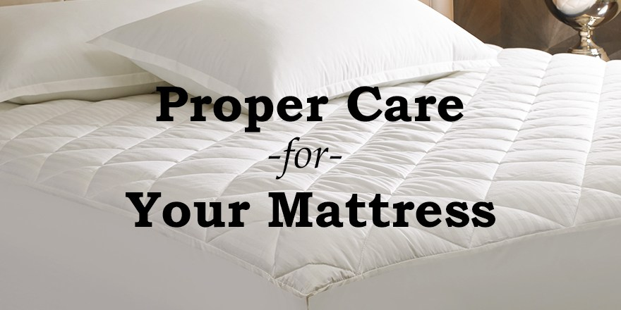 Caring for a new mattress