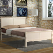 Rosanna double bed cream