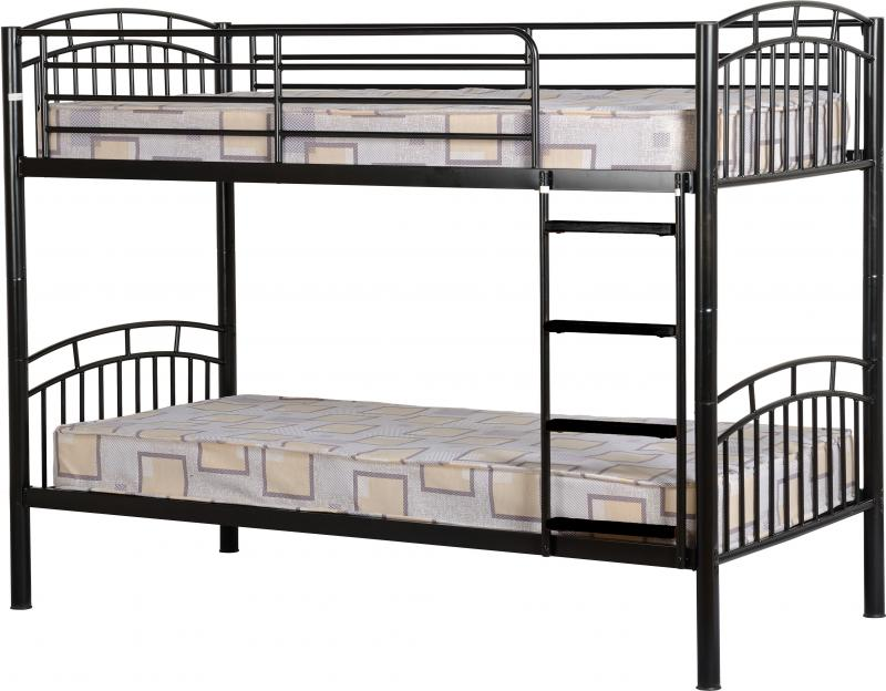 Ventura 3 Bunk Bed In Black Mattressshop Ie