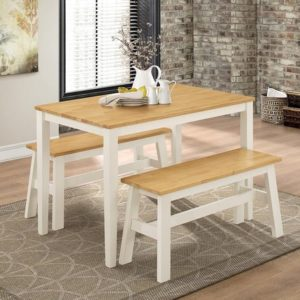 washington-dining-set-with-2-benches-nat-oak-white