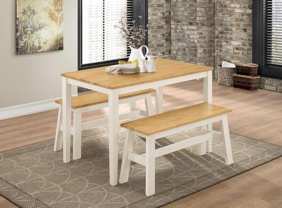 washington-dining-set-with-2-benches-nat-oak-white