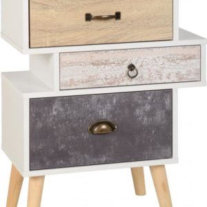 Nordic 3 Drawer Bedside