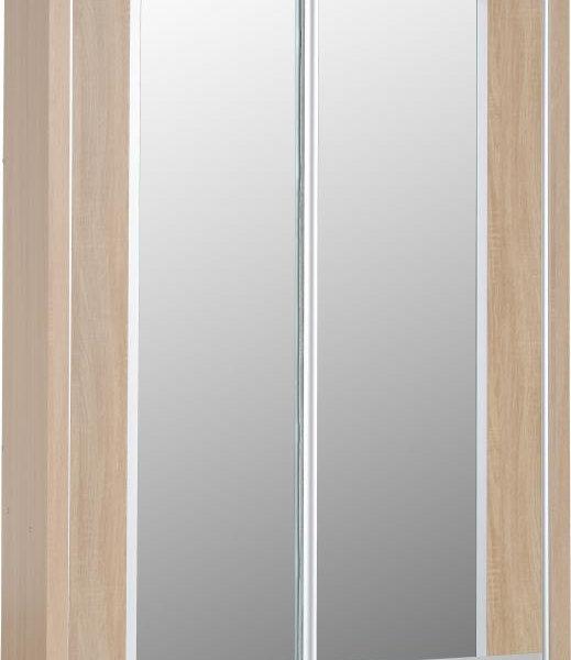 Lisbon 2 Door Sliding Wardrobe in Light Oak Effect Veneer