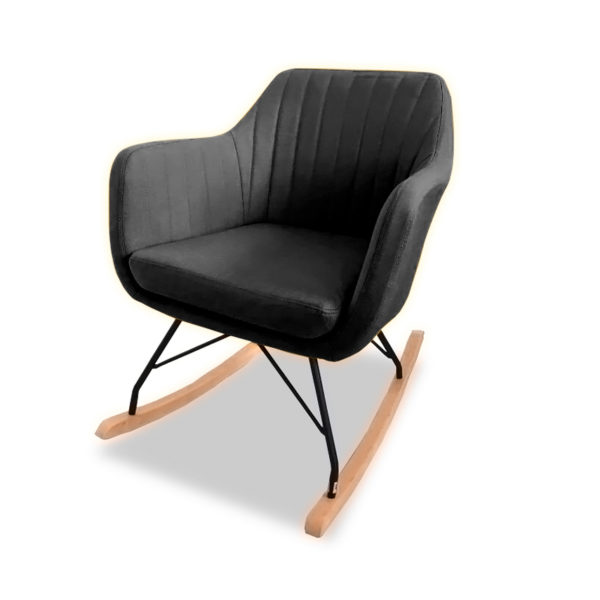 Katell Rocking Chair - Charcoal Angle