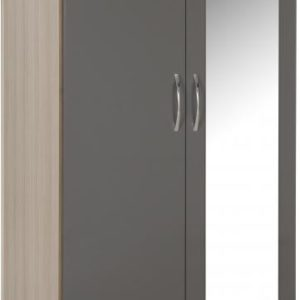 NEVADA_MIRRORED_2_DOOR_WARDROBE_GREY_GLOSSLIGHT_OAK_EFFECT_VENEER