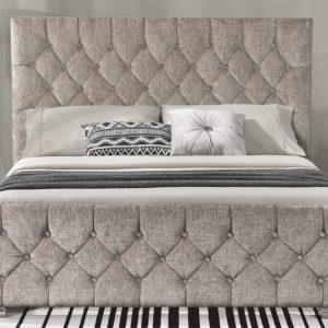 Carina Fabric Bed - Mink